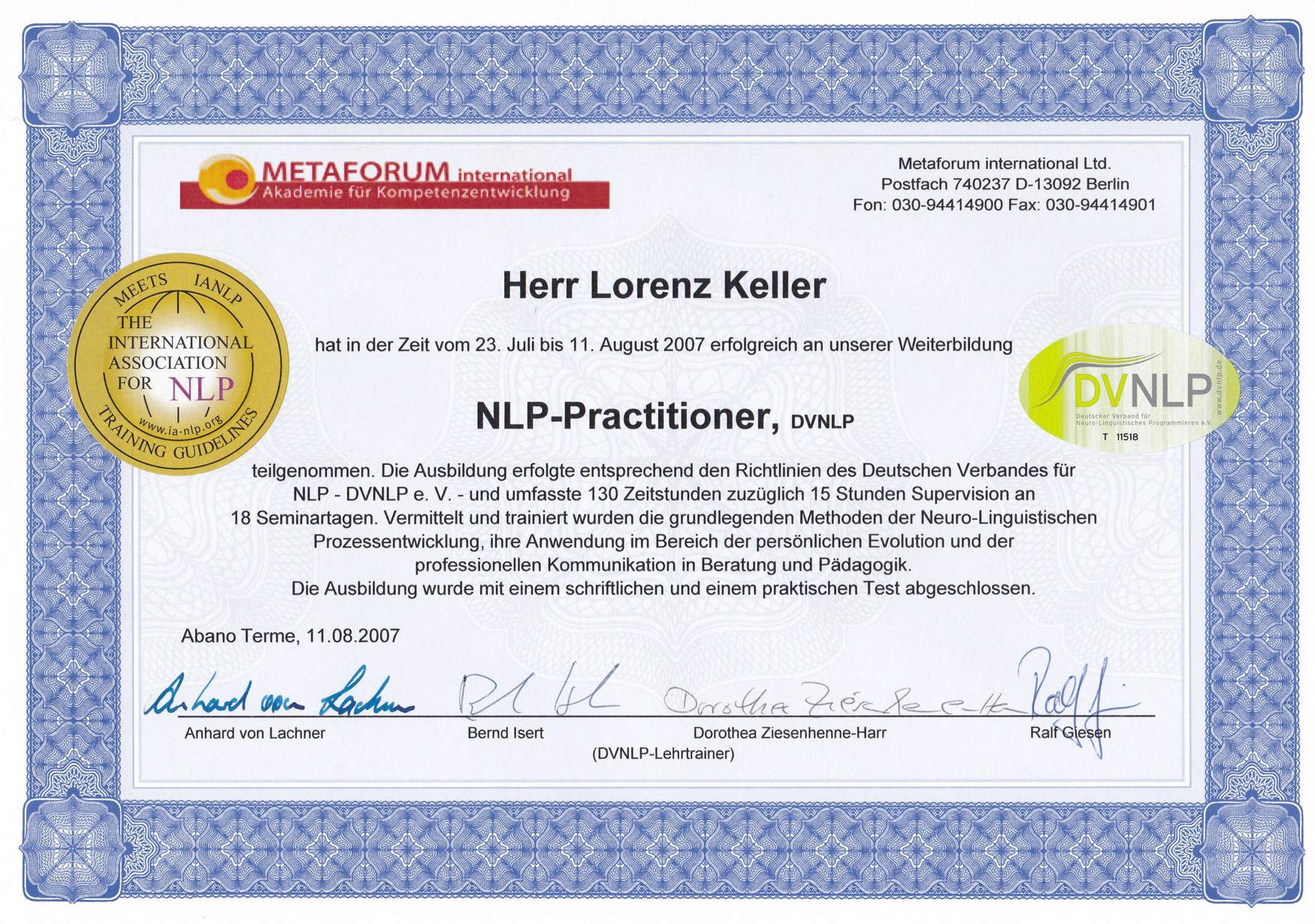 DVNLP Practitioner