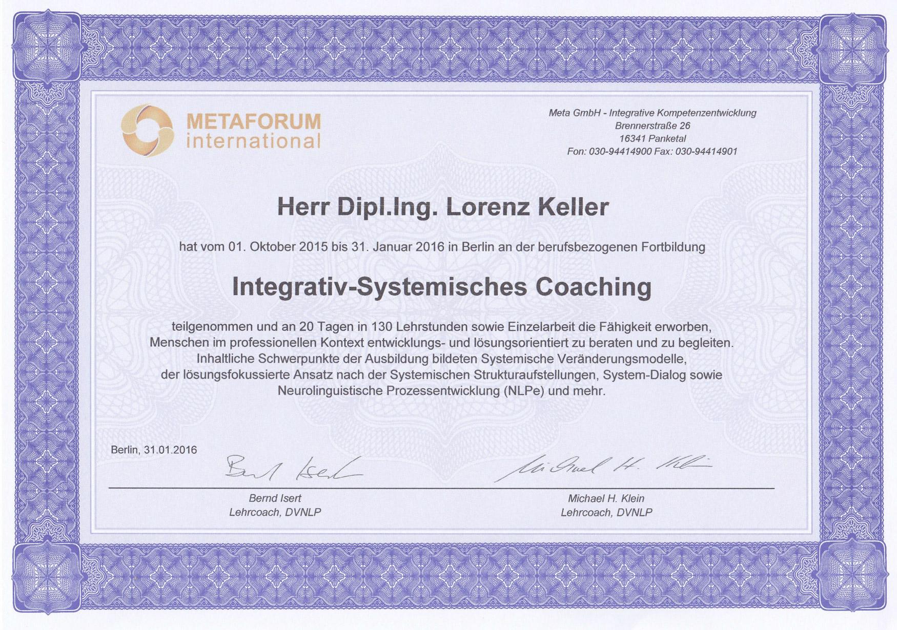 Integrativ Systematisches Coaching