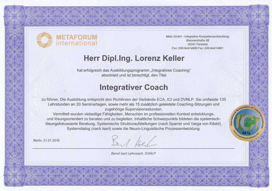 Integrativer Coach Metaforum