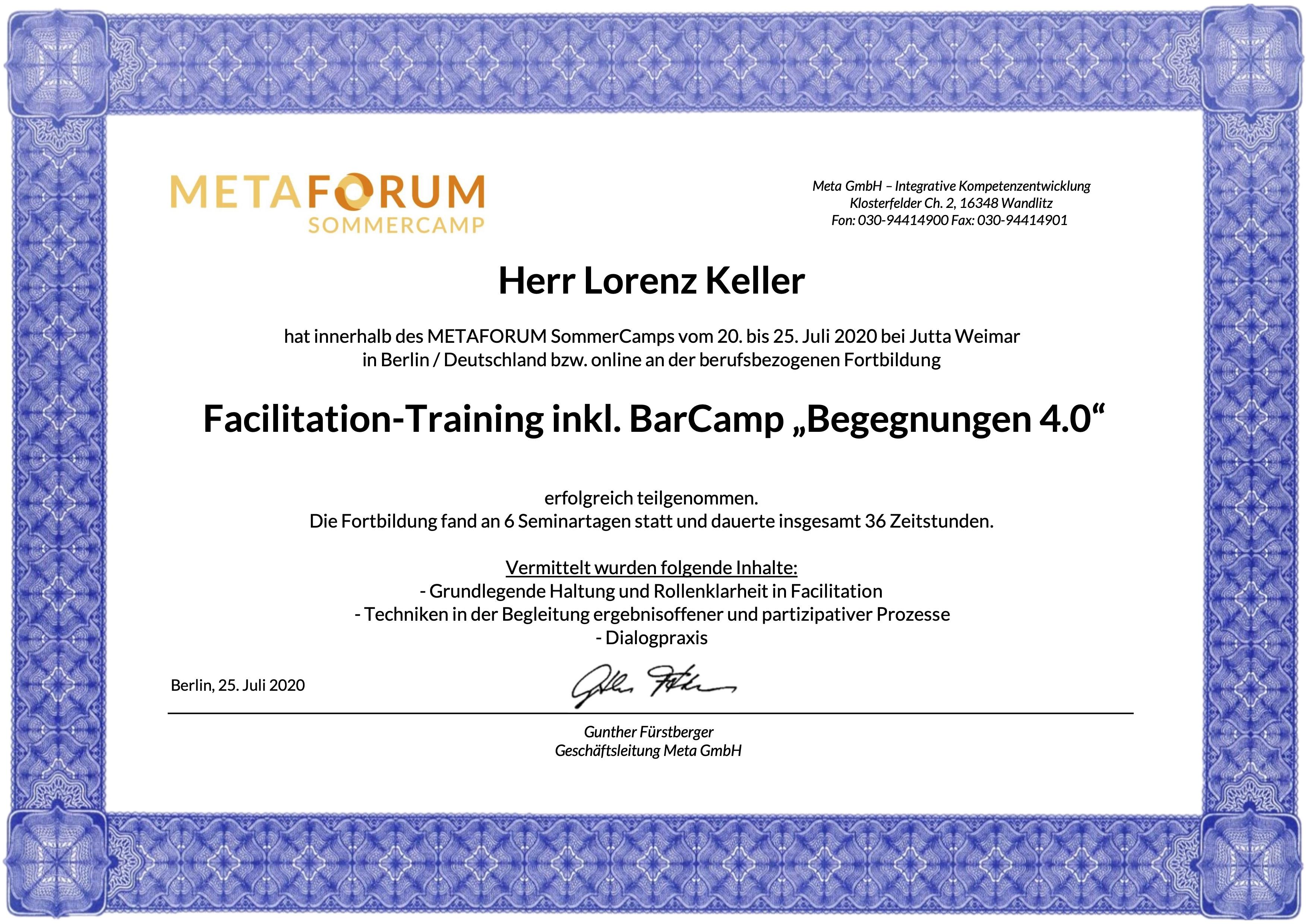 Facilitation Training Metaforum